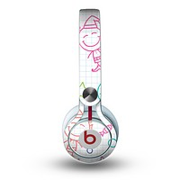 The Colored Happy Doodle Angels and Elves Skin for the Beats by Dre Mixr Headphones