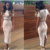 FASHION LACE HOT DRESS TWO PIECE HIGH QUALITY