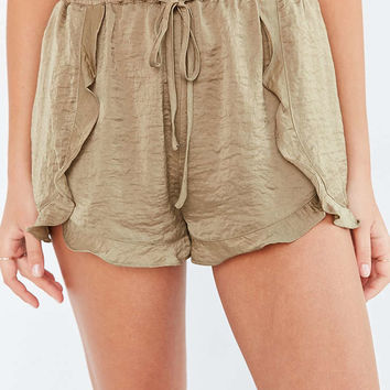 Kimchi Blue Satin Ruffle Dolphin Short - Urban Outfitters
