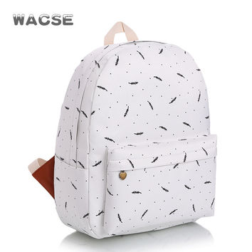 Casual Canvas Travel Korean Fashion Stylish Backpack = 4887492356