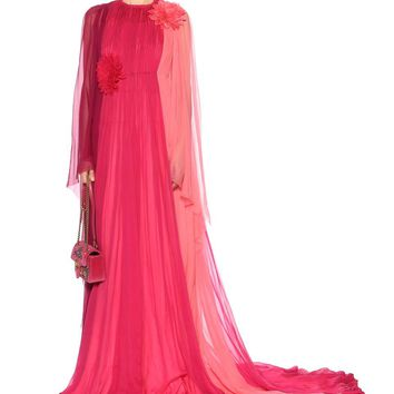 Silk crêpe de chine gown