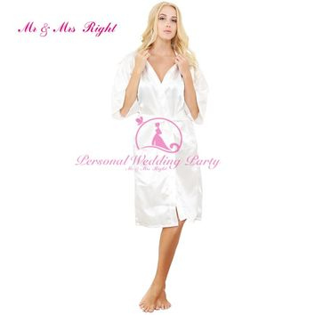 2016 Silk Robe Bathrobe Women Short Satin Robe Women Peignoir Womens Sleepwear Robes Womens Dressing Gown Pijama Mono WKD