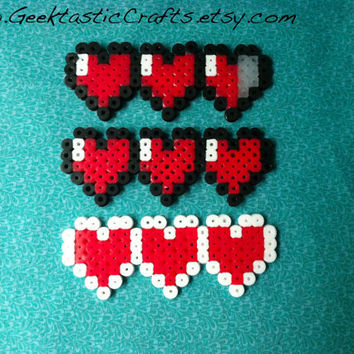 Zelda Heart Meter Hair Clips: Pick your Health and Color