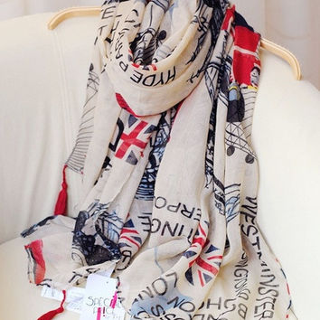 British Style Oversized Scarf Sun Beach Scarves Women Fashion = 1945809028