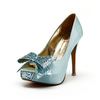 Tiffany Blue Wedding Heels, Robbin Blue Egg Wedding Shoes with Glitter