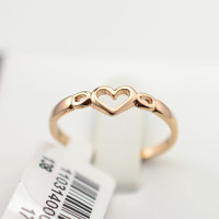 Gold Plated Heart Finger Ring for Women
