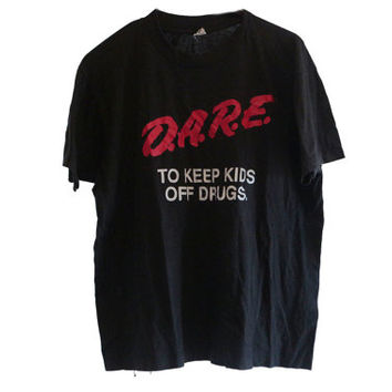 80s D.A.R.E To Keep Kids Off Drugs T-shirt