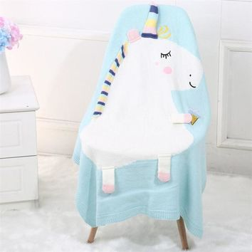 Unicorn Knitting Blanket Bedding Air Conditioning Knit Blankets Quilt