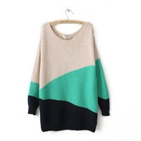 Irregular geometry thicken sweater zzzs0016
