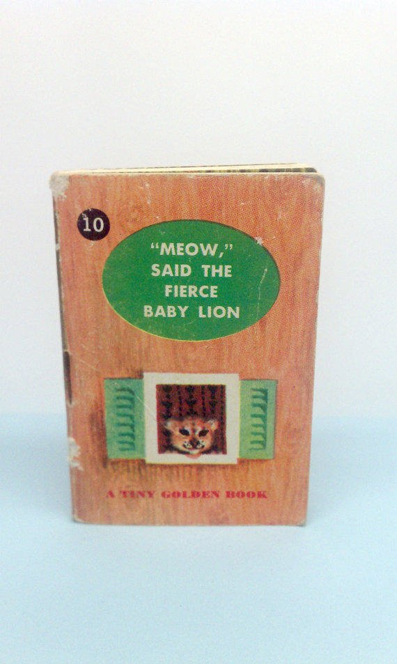 1948 Meow Said the Fierce Baby Lion Tiny Golden Book RARE