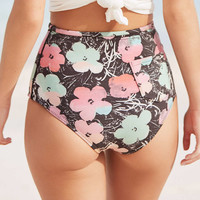 Billabong X Warhol Vintage High-Waisted Bikini Bottom - Urban Outfitters