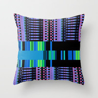 Friendship Bracelets Throw Pillow by Nina May