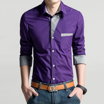 Mens Hip Dress Shirt