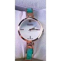 GUCCI Trending Women Quartz Movement Watch Wristwatch Green