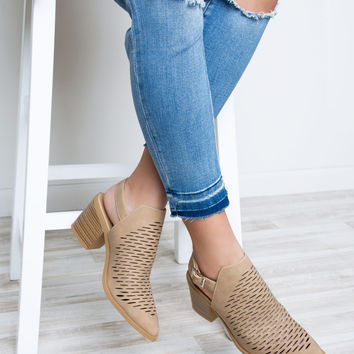 On The Run Booties - Taupe