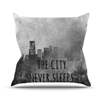 "Alison Coxon ""The City Never Sleeps"" Throw Pillow"