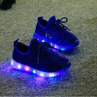 New Festival flower light boot luminous infant baby girls boy first walkers kid tenis baby sneaker shoes running flash trainer
