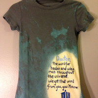 Doctor River Song Doctor Who Quote Hand Painted Tee by CosmicTees