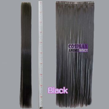 All Color 24 inch Hair Weft Extension and Hairpiece (3 Pieces)