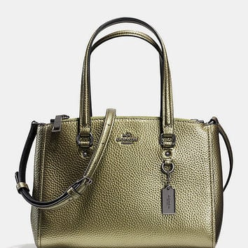 COACH STANTON CARRYALL 26 IN METALLIC PEBBLE LEATHER | Dillards