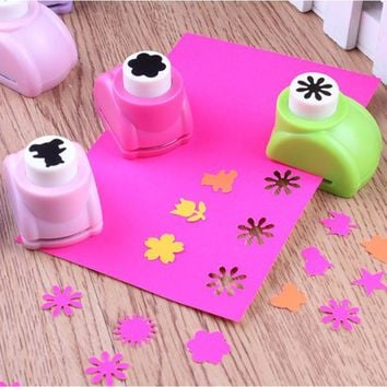 Seal Mini Printing Paper Flower Cutter shapes Craft Toys Punch DIY Puncher Paper Cutter Scrapbooking Punches DIY Toys For Child