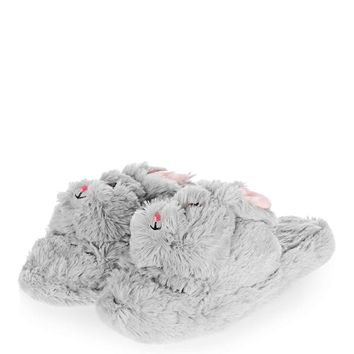 Fluffy Rabbit Slippers | Topshop