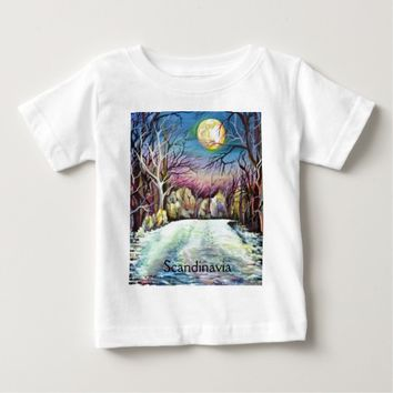 Silent Night in Sweden Baby T-Shirt