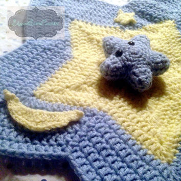 Crochet Star Baby Lovey