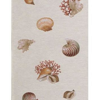 Shells Light  French Table Runner