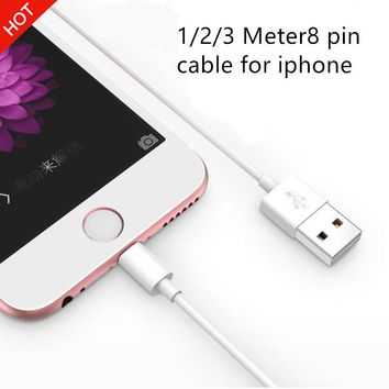 1/2/3 Meter 8 pin To USB Cable Data charger charging cables cord for iphone 5 5s 5c 6 6s plus,Mobile phone original qualit cable