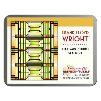 Frank Lloyd Wright Oak Park Studio Skylight 100 Piece Jigsaw Puzzle