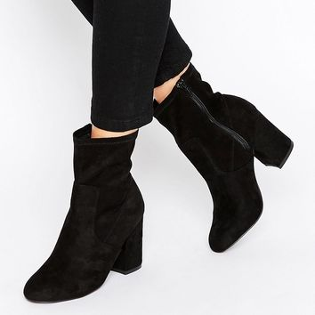 New Look Heel Sock Ankle Boots