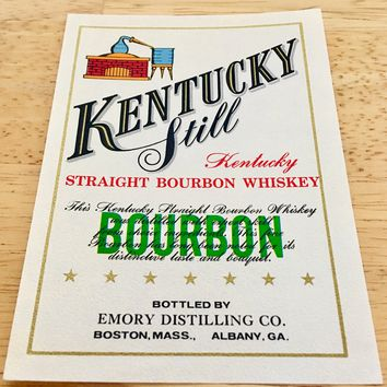 Kentucky Still Straight Bourbon Whiskey Label