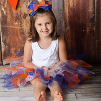 War Eagle...2010 NCAA BCS National Football Champions - Auburn University Tigers Girls' Tutu in Orange, Blue, and White