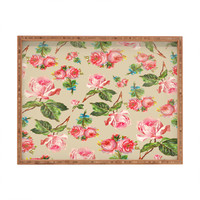 Allyson Johnson Dainty Floral Rectangular Tray