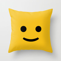 YELLOW TOY Throw Pillow by Maioriz Home