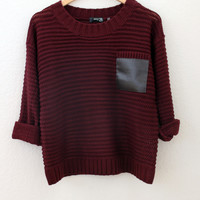 Elena Chunky Sweater | Wine from Jinx
