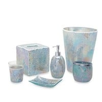Aurora Pastel Cracked Glass Soap Dish