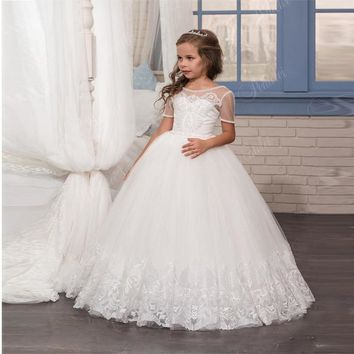 The Stella- Flower Girls Dress Beaded