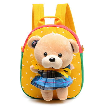 Children school bags cute cartoon bear infant backpacks for baby girl kids bags