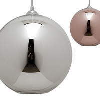 Marshall Large Round Copper Pendant Light