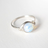 Opalite Moonstone Ring - unique rings