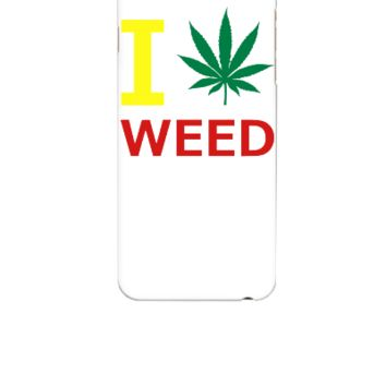i love weed - iphone 6 Case