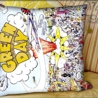 Green Day Dookie - Pillow Cover and Pillow Case.