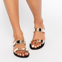 Park Lane Strap Slide Jelly Flat Sandals