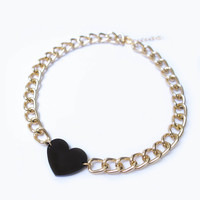 ON SALE: Love Rocks Chunky Chain necklace - 24k gold plated chain