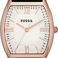 Fossil Wallace Leather Watch Black