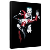 The Joker And Harley Quinn Stretched Canvas Wall Art