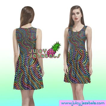 PSYCHEDELIC DREAM Skater Dress Rave Outfit Women Burning Man Clothing Rave Wear Festival Clothing Rave Clothing Sexy Dress Trance Clothing