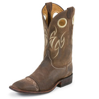 Justin Mens Testa Waxy Brown Western Cowboy Boot
